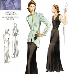 5. Vogue V2786, Vintage 1940's style dress and jacket
