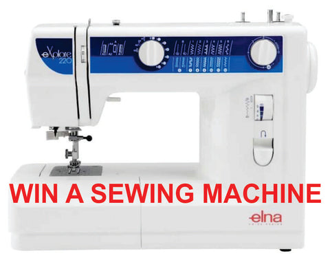 win a sewing machine, sewing machine, elna sewing machine, elna explore 220, elna explore,