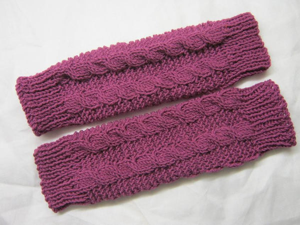 Knit Leg Warmers Cable Pattern : Knitting Pattern: Girls double Cable leg warmers   NonStopCraft