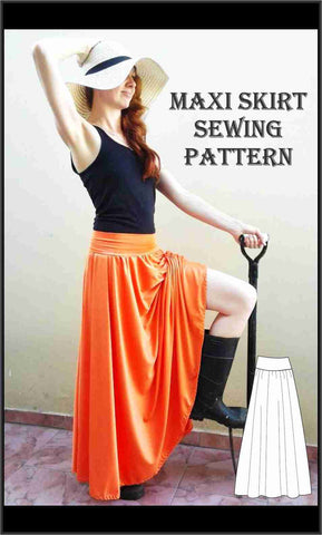 Easy Maxi Skirt Sewing Pattern