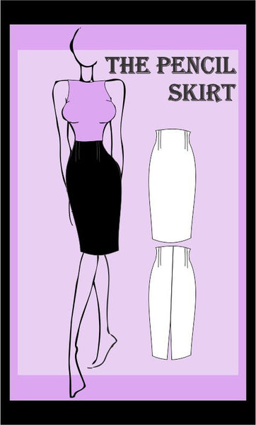 High waist skirt 4 sewing pattern pack