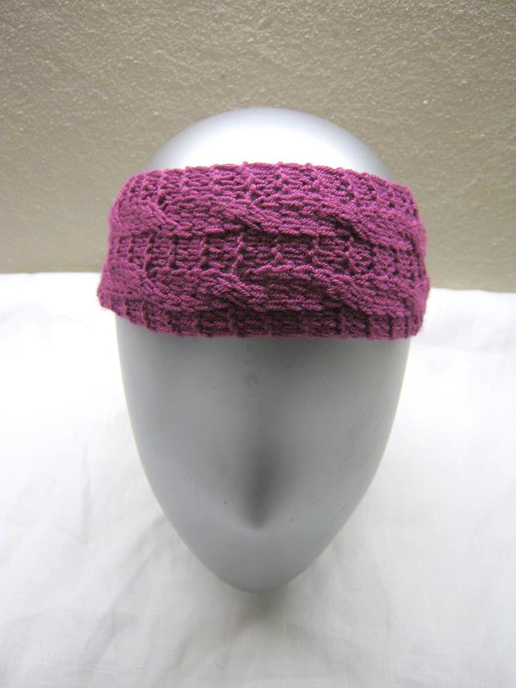 Double Knitting Headband Pattern : Girls double cable headband Knitting Pattern   NonStopCraft