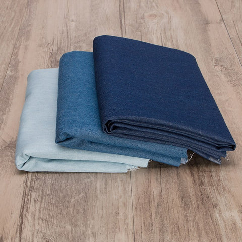 Hot Sale Thin 100% Cotton Blue Jeans Denim Fabric Indigo Denim Fabric for DIY Craft Clothes Sewing Patchwork Fabric