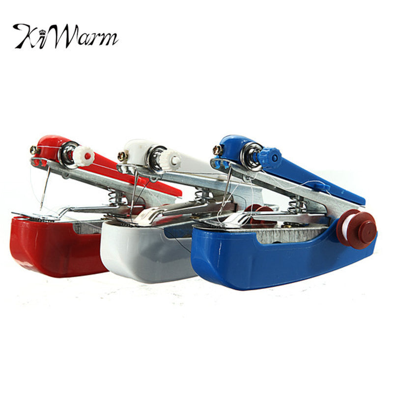 KiWarm Portable Mini HandHeld Clothes Fabrics Sewing Machine