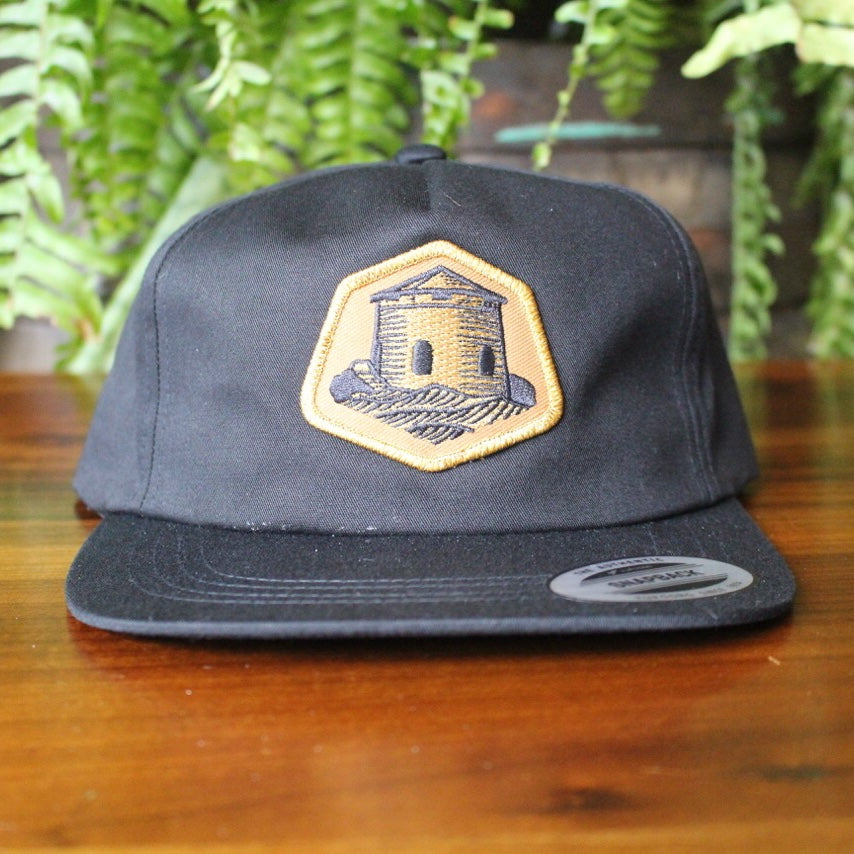 Snapback Hat with Gold Tower Patch