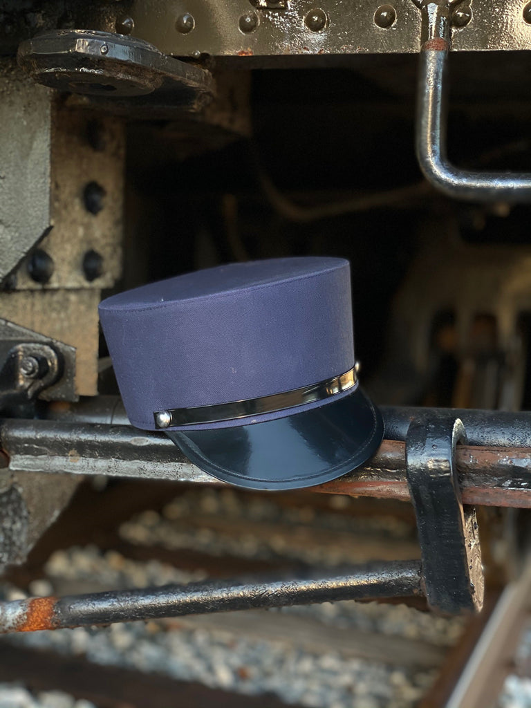 Navy Blue Train Engineer Conductor Hat