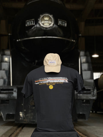 N&W 611 Engine and Stats T-Shirt Black