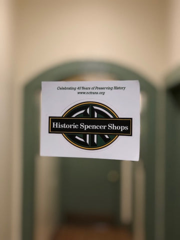 Historic Spencer Shops Decal