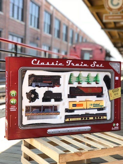40-Pc Battery Operated Toy Train Set
