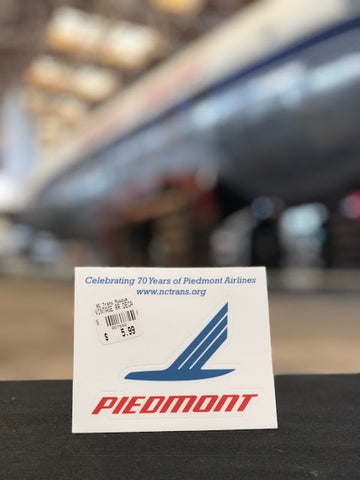 Vintage Railroad Piedmont Airlines Decal