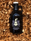 Brew and Choo Amber Glass Growler