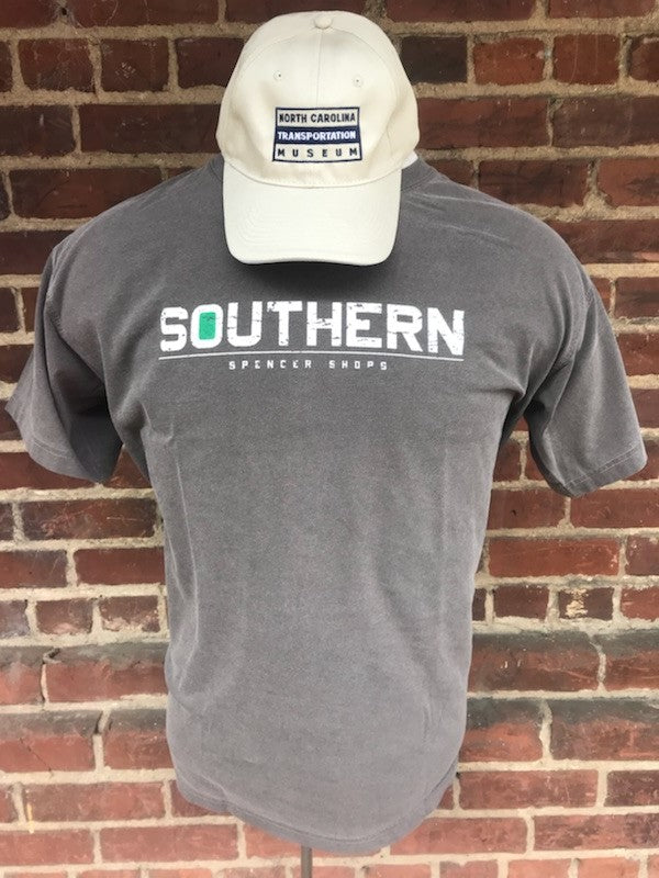 Heavyweight Pigment Dyed Southern Spencer Shops T-Shirt Distressed Print