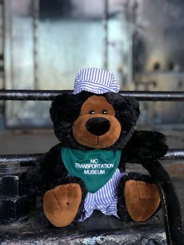 NC Transportation Museum Engineer Bear with Embroidered Bandana