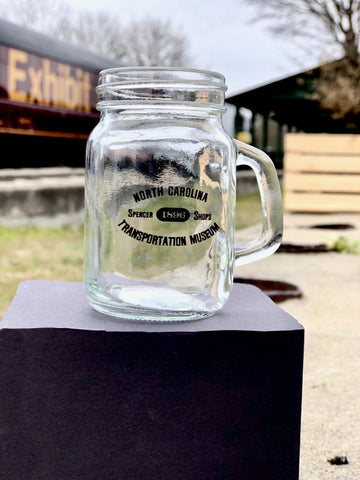 North Carolina Transportation Museum Mini Glass Mason Jar