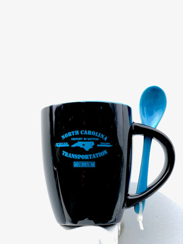 North Carolina Transportation Museum Blue/Black Mug