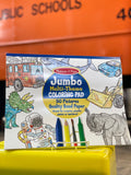 Jumbo multi-theme coloring pad