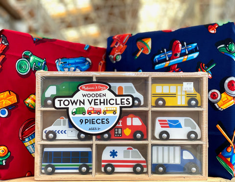 Wooden town vehicles
