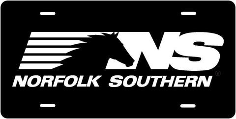 Norfolk Southern Horse Mane License Plate