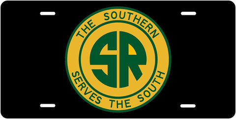 Southern Railway (SOU) - Southern Serves the South - License Plate