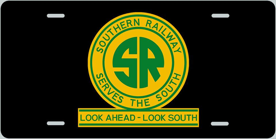 Southern Railway (SOU) Logo with Rail License Plate