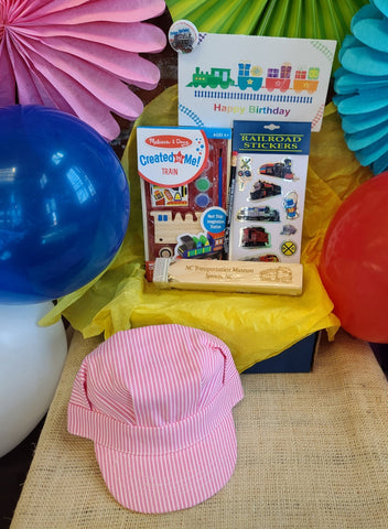 Pink Engineer Hat Birthday Box