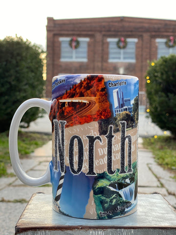 North Carolina Tall Etched Mug