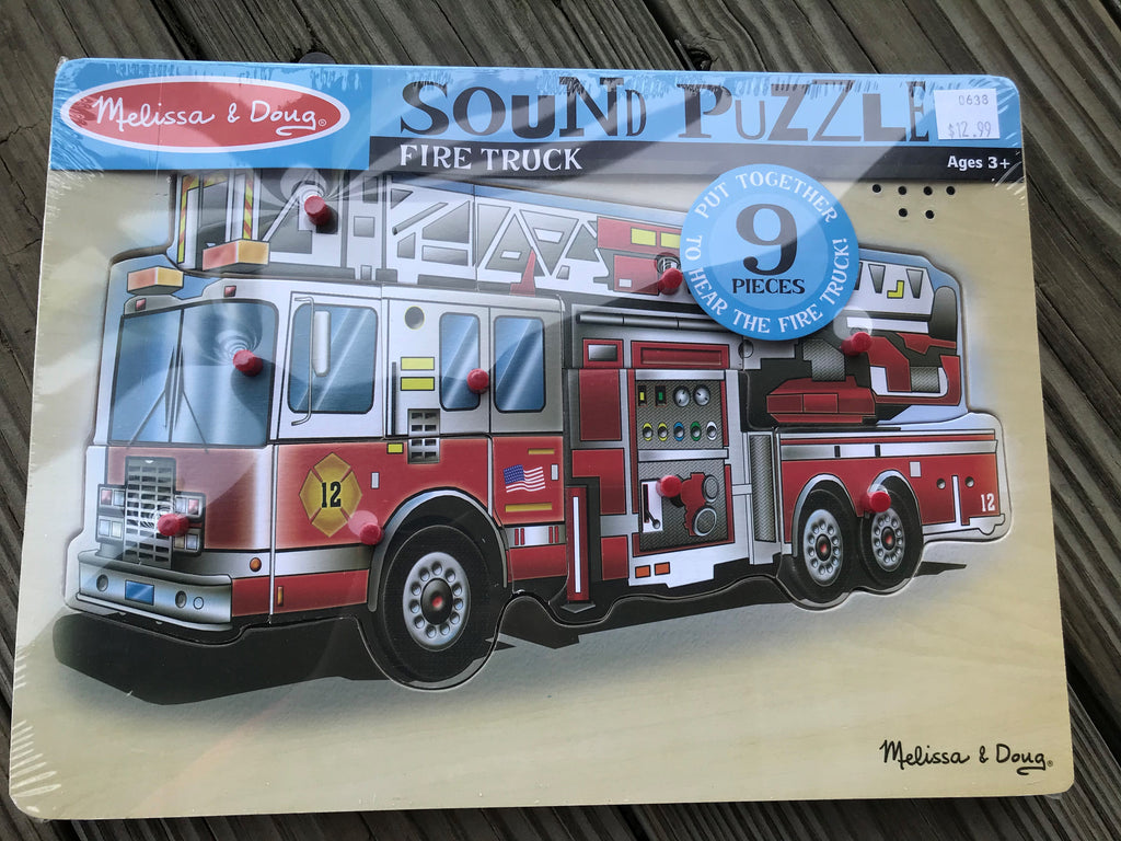 Fire Truck Wooden Sound Puzzle