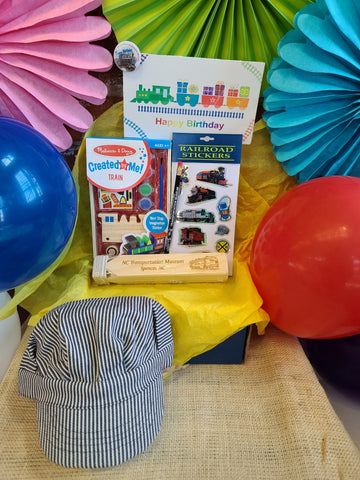 Blue Engineer Hat Birthday Box