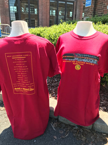 611 N&W Engine & Stats T-Shirt  Red