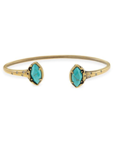 Laura Pinch Cuff Bracelet - Variegated Turquoise