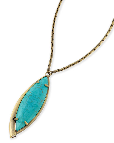 Milla Long Necklace - Variegated Turquoise