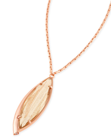 Milla Long Necklace - Gold Dusted Glass