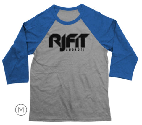 3/4 Sleeve RJFit Apparel Tee (Royal Blue & Gray)