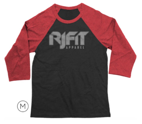 3/4 Sleeve RJFit Apparel Tee (Crimson Red & Black)