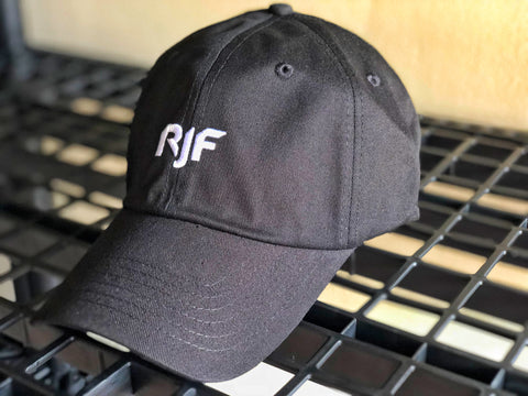 RJFit Classic Black Dad Hat w/Gold Buckle