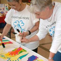 Painting in a Creating Hope workshop