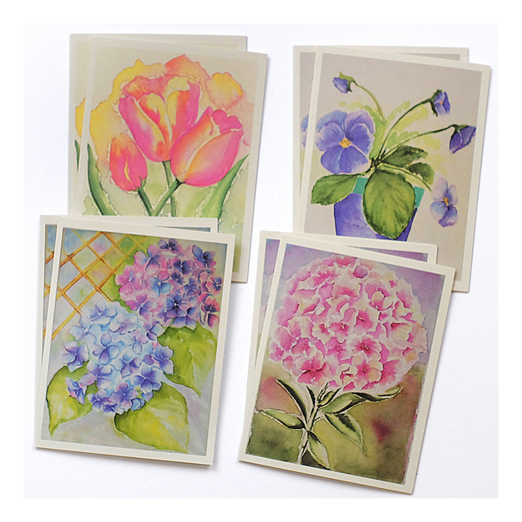 Set of 8 Floral Note Cards
