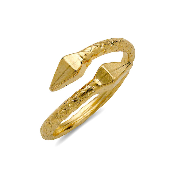 Pyramid ends 10K Yellow Gold West Indian Ring - Betterjewelry