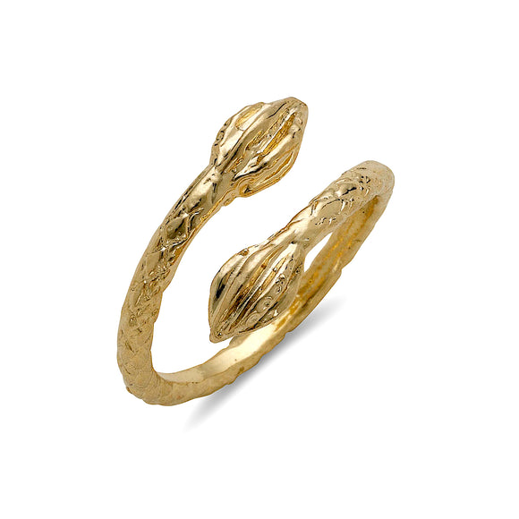Cocoa pod 10K Yellow Gold West Indian Ring (MADE IN USA)