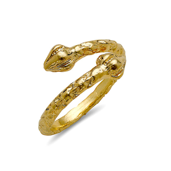 Bulb ends 10K Yellow Gold West Indian ring