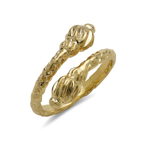 Torch Ends 10K Yellow Gold West Indian Ring