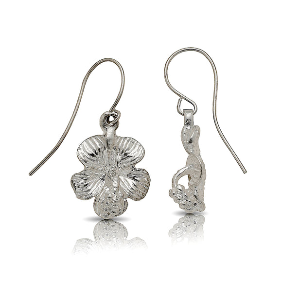 Hibiscus earrings .925 Sterling Silver - Betterjewelry