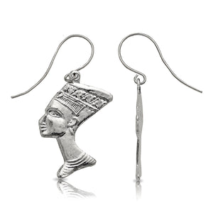 Queen Nefertiti earrings .925 Sterling Silver - Betterjewelry