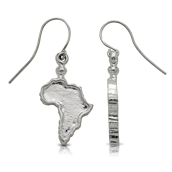 Map of Africa earrings .925 Sterling Silver - Betterjewelry