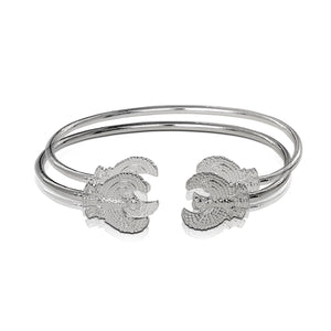 .925 Sterling Silver Phoenix West Indian bangles (pair) - Betterjewelry