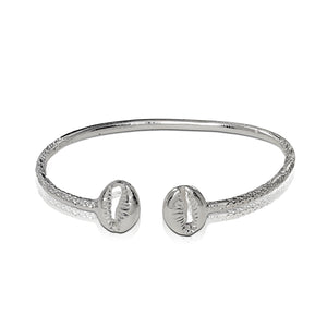 Copy of .925 Sterling Silver Cowrie Shell Thin bangle - Betterjewelry
