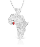 African Ancestry Ghana Heirloom Pendant Red - Betterjewelry