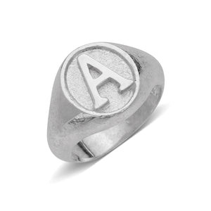Classic Signet .925 Sterling Silver Initial Ring