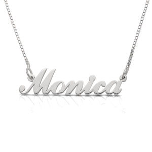 Personalized .925 Sterling Silver Cursive Name Necklace (MADE IN USA)