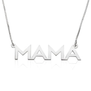 Personalized .925 Sterling Silver Sleek Block Name Necklace (MADE IN USA)